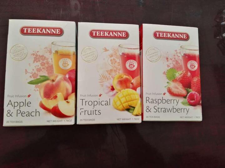德国原装进口【Teekanne】草莓覆盆子水果茶花果茶包20包/盒 果粒袋泡茶叶 冷泡茶 德康纳 晒单图