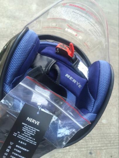 康骑(NERVE) Flash/弗莱仕 摩托车双镜片半盔头盔 凯芙拉复合材料 四季通用 纯白 L 晒单图