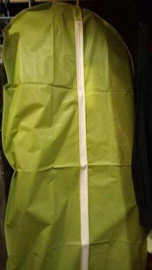 凡雀 西服袋 6件套装 衣服罩 半透明西服罩衣物罩防尘罩衣物防尘套收纳挂袋可水洗收纳袋 绿色 六件套  3小2中1大 晒单图