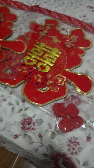 幽幽兔婚庆用品撒花结婚礼场景婚房布置装饰仿真玫瑰花瓣手抛假花瓣 大红色 晒单图