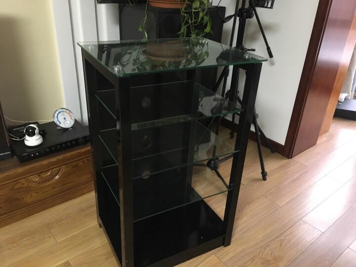 捷盛C1功放机柜黑色二三四五层烤漆钢化玻璃功放视听机架木质架子发烧音响专业调音设备器材 黑色四层80 高度 晒单图