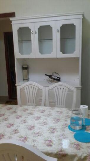 易达彼思 韩式田园酒柜 餐边柜象牙白简约现代餐边柜 餐厅储物柜 茉莉花白 晒单图