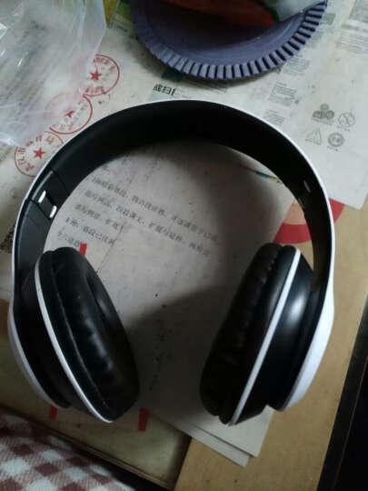 mate苹果三星魅族无线蓝牙耳机头戴式 插卡重低音手机电脑电视无线音乐耳麦MP3播放器 土豪金-送内存卡 晒单图