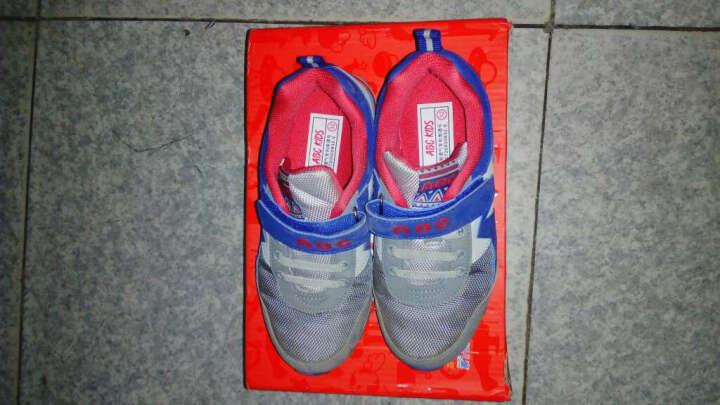 abckids童鞋男童鞋春秋新款儿童运动鞋休闲鞋韩版潮复古跑步鞋 浅灰军绿 32码(内长约20.4cm) 晒单图