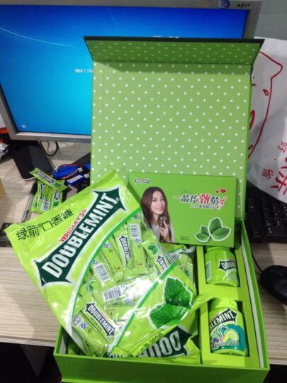 绿箭(DOUBLEMINT)口香糖原味薄荷味20片53g单盒装 晒单图