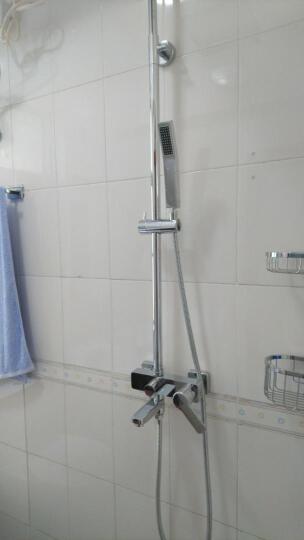汉派全铜冷热挂墙式简易升降淋浴花洒套装增压明装顶喷淋浴器柱屏HP1005 恒温不带下出水 晒单图