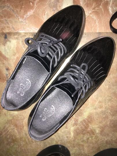 卓诗尼单鞋2017新款秋鞋粗低跟复古套脚女鞋商场同款 米白色 36 晒单图