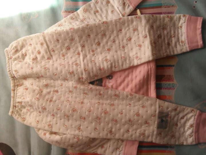 俞兆林(YUZHAOLIN) 儿童内衣套装纯棉男女童秋衣秋裤套装四季可穿 肩扣标签小树苗-粉红 120CM 晒单图