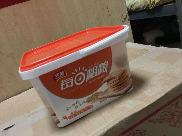 华美 粗粮酥性饼干 早餐糕点 休闲食品 零食小吃 原味700g 晒单图