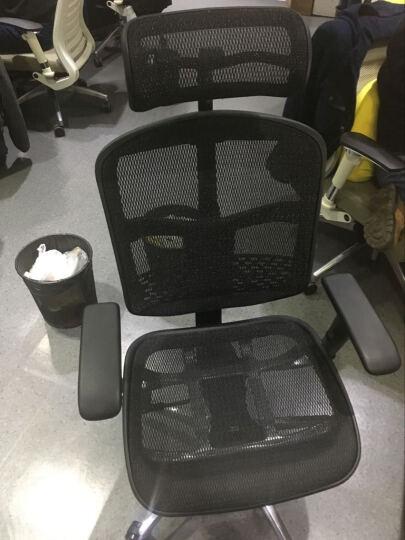 保友Ergonor人体工学椅子联友电脑椅办公椅网布椅子多功能职员椅金卓B 黑色网布(带腰垫) 铝合金脚 晒单图