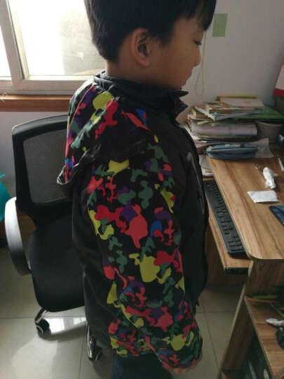 羽克(Yuke) 儿童冲锋衣童装春秋款加绒男童外套宝宝防风衣户外运动服 2228绿色加绒款 130(建议身高120cm左右) 晒单图