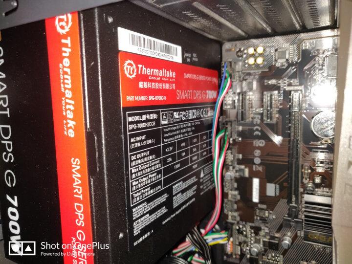 Tt(Thermaltake)额定700W SMART DPS G 700W 电源(80Plus铜牌/半模组/双滚珠温控风扇/主动PFC) 晒单图