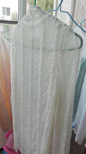 乐町2017春季新款女装潮美人鱼袖修身针织衫套头毛衣外套打底衫CWEE63204 苦艾绿 S/155 晒单图