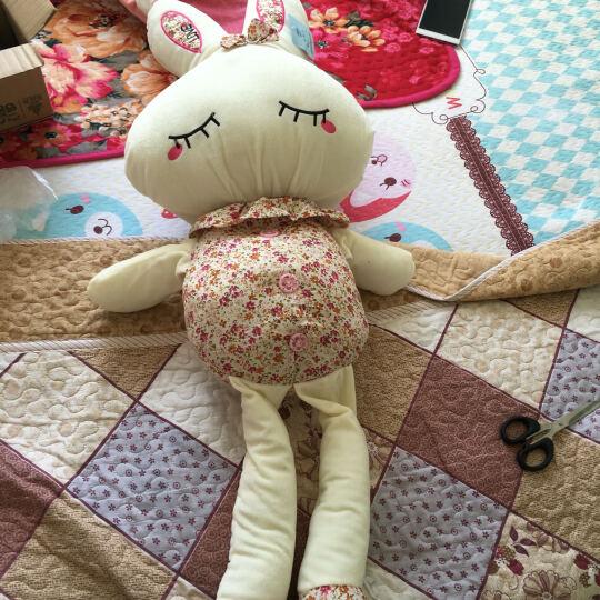 保蒂卡 毛绒玩具生日礼物布娃娃碎花兔抱枕公仔玩偶兔子 1米 晒单图