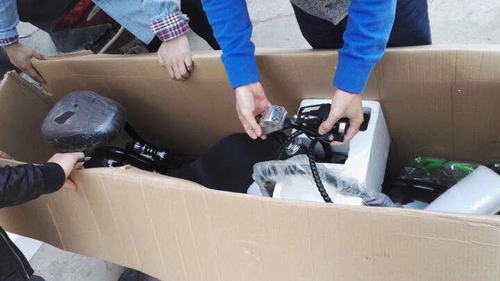 鑫剑 哈雷电动车双人电瓶车摩托车轻便电动车 黑色 黑色车架超威锂电池48V12AH 晒单图
