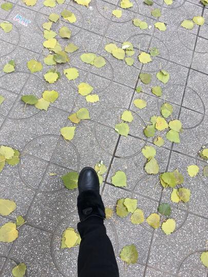 雪地靴女短靴冬季女鞋圆头松糕跟靴子女靴韩版冬靴时装靴内增高厚底平跟公主鞋甜美低筒靴 米白色DHD9062B 36 晒单图
