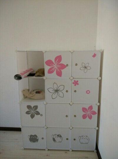 洁然简易衣柜树脂儿童衣柜折叠组装双人衣橱宿舍衣柜