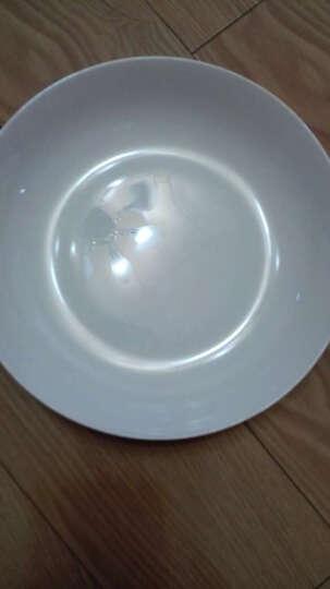 敏杨 套装盘子(4只装)陶瓷盘子菜盘家用水果盘子瓷器中式餐具 菜碟子7/8英寸盘子 纯白骨瓷7.5英寸 晒单图