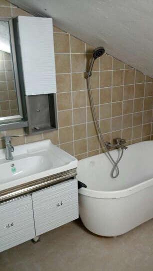 雅图诗 浴缸花洒龙头 不锈钢淋浴套装三联混水阀冷热 龙头+花洒喷头套装 晒单图