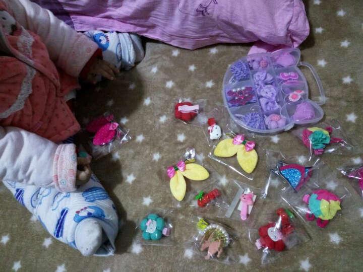 韩版儿童头饰韩国儿童发饰品女童配饰碎花立体耳朵发夹 印点款  玫红 晒单图