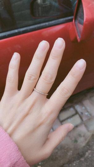 周大福 小心意系列 优雅闪耀 18K金镶钻石戒指/钻戒 U131379 12号 3800元 晒单图