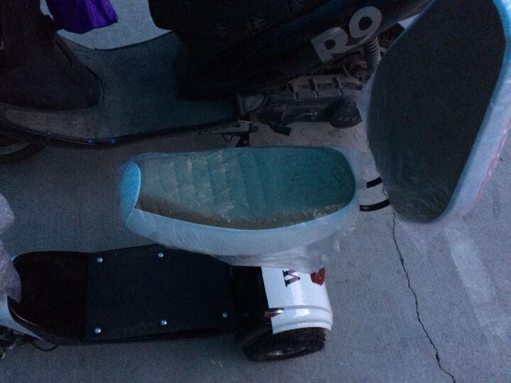 睿尔贝 电动三轮车代步车老人电动滑板车助力车折叠电动车电瓶车成人老人代步三轮车电动迷你三轮车 10寸选色双人座垫 36V350W锂电池+报警器 晒单图