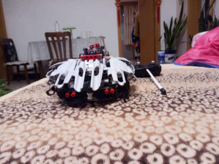 儿童玩具男孩女孩儿童充电遥控车汽车乐高式积木拼插拼装组装益智玩具电动积木车小孩生日礼物 军事系列 - 主战坦克 晒单图