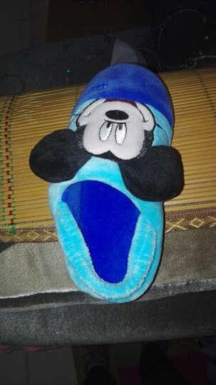 优品鞋靴 迪士尼棉拖鞋儿童冬季保暖棉鞋卡通小童中童棉拖鞋家居家拖鞋 无跟/臧青 28/29(实际鞋内长约17cm) 晒单图