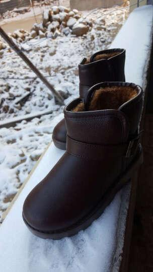 回力儿童棉鞋女童雪地靴子防滑加绒鞋时尚款保暖防水高帮马丁靴 咖啡HL1059 31 晒单图