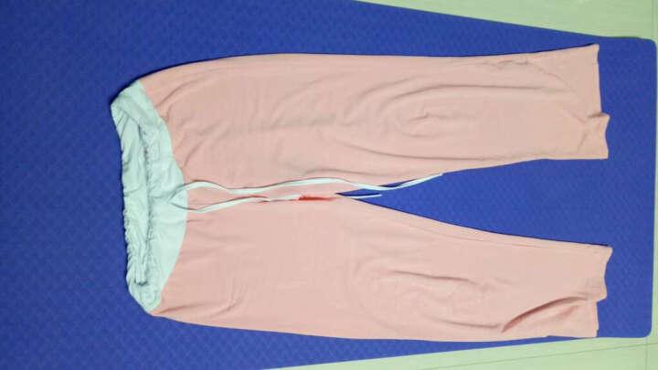 范迪慕(FANDIMU) 瑜伽服女套装莫代尔专业三件套春夏中袖长袖修身显瘦上衣健身舞蹈服 黑配荧光绿-短袖三件套 L 晒单图