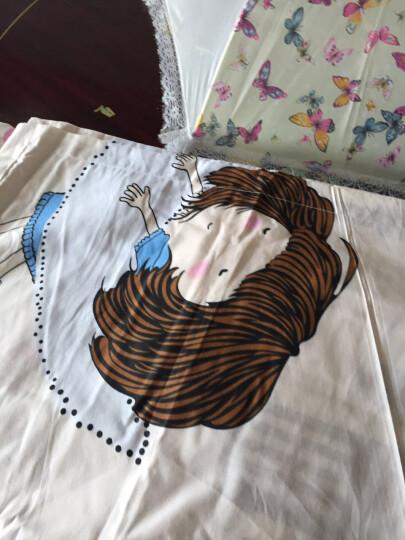 萱之悦 全棉四件套大版花优质棉 套件卡通家纺床上用品 全棉大版花-月亮女孩 1.8米床(适合200*230的被子) 晒单图