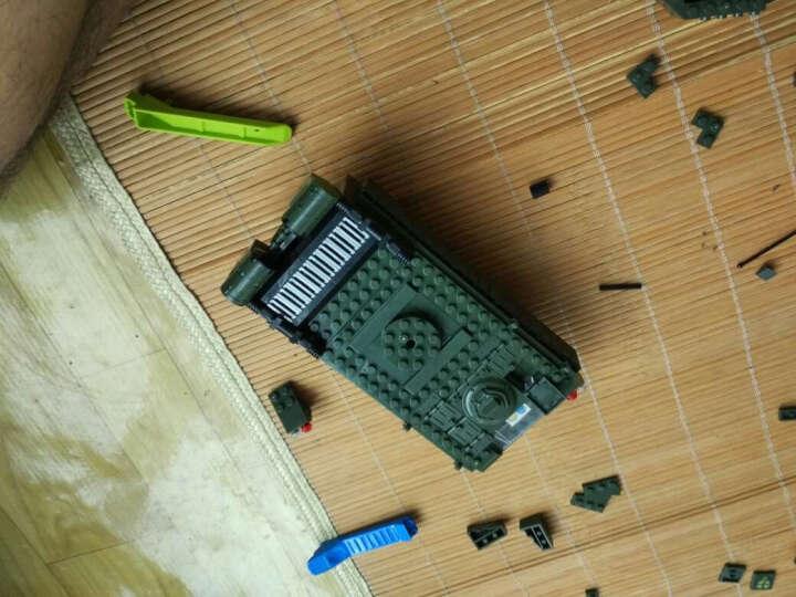 启蒙积木玩具兼容乐高军事系列益智立体拼插拼装模型儿童智力玩具人仔坦克男孩我的世界未来骑士团 现代化装甲兵团1239片送拆件器 晒单图