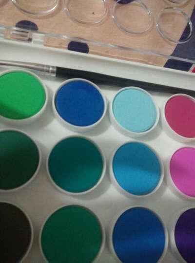 雄狮儿童粉饼透明固体水彩颜料套装  12/16/28/36色水粉画颜料填色套装 16色 送水彩笔1支 单盒 晒单图