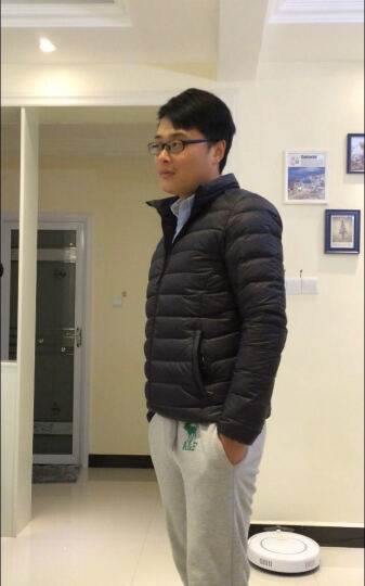 Vancl凡客诚品 羽绒服 保暖外套 轻薄百搭羽绒服 轻暖95绒 立领男 丛林绿 XL 晒单图