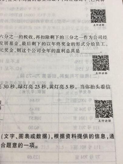 中公版·2017上海市公务员录用考试专用教材:历年真题精解行政职业能力测验 晒单图