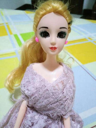芭比娃娃套装大礼盒情景玩具屋过家家声光音乐女孩换装12关节3D真眼美瞳迷糊洋娃娃 小芭比天使系列 晒单图