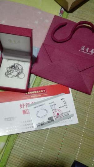 豪至尊银饰【美好时光】925银手链女转运珠 情人节礼物送女友老婆情侣生日创意礼品送玫瑰 晒单图