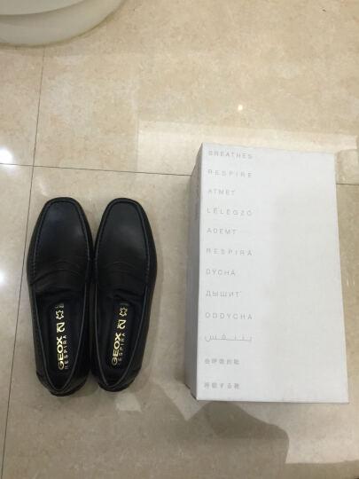 GEOX/健乐士夏季男鞋素面2FIT低帮一脚套莫卡辛豆豆商务休闲皮鞋U44Q6B 黑色C9999 42.5 晒单图