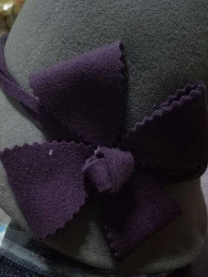 瑞苏薇 原创品牌女甜美花朵羊毛保暖秋冬新款礼帽毛呢帽子 驼色 晒单图