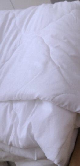 富安娜家纺空调被子 暖气房被可水洗印花被芯 纤维薄被芯 双人加大 跃动 1米8床/2米床(230*229cm)白色 晒单图