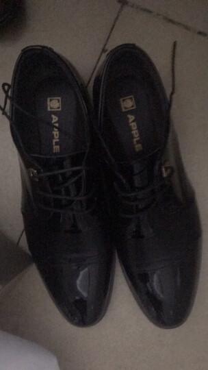 APPLE苹果男鞋 皮鞋男春季正装鞋男亮面男士商务休闲鞋子男加绒款加厚保暖棉鞋潮流英伦 K9952 黑色 41 晒单图