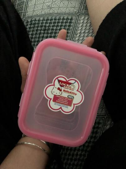 乐扣乐扣(LOCK&LOCK)HELLO KITTY密封型塑料保鲜盒容器零食防潮储物收纳盒470ml HPL807-KT粉色 晒单图