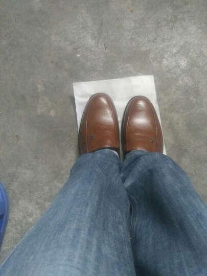 春之北纬商务休闲鞋2017时尚简约新款男鞋男士皮鞋低帮日常单鞋LZJ5053YZ 红棕 38 晒单图