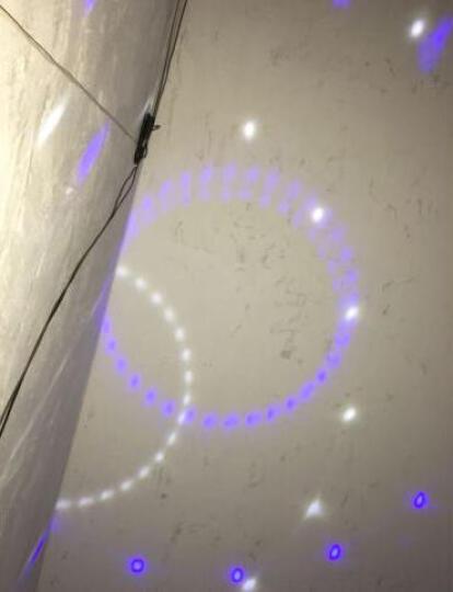 舞立方 LED迷你小太阳 激光舞台灯光ktv酒吧灯 七彩灯婚庆包房光束灯背景灯元旦节灯 黑色(USB+电池款) 晒单图
