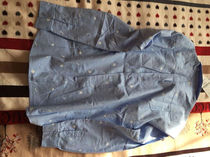 巴拉巴拉童装男童长袖衬衫中大童上衣秋装新款小孩儿童衬衣男 白黑色 150 晒单图