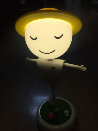 纽曼LED插电版稻草人礼品小夜灯 卧室床头灯调光小台灯 喂奶宝宝灯 白光 晒单图