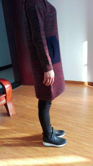 SiGeTu针织衫女秋冬连衣裙中长毛衣打底衫毛衫 蓝色 均码 晒单图