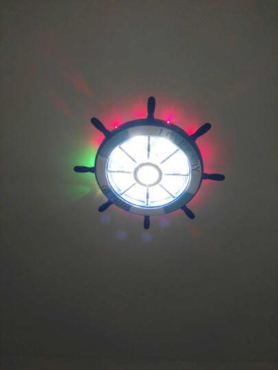 闪派地中海儿童房灯卧室房间灯饰led罩客厅圆形餐厅温馨创意个性男女孩儿童卡通灯具 蓝色陀-小号27W(直径45CM) 晒单图
