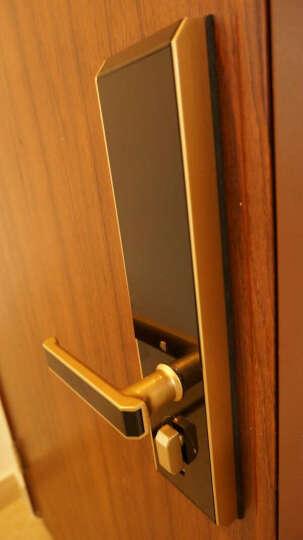 斑点猫(spotmau)指纹锁电子锁智能家居密码防盗锁(X200+网关WiFi版) 香槟金 免费安装 晒单图