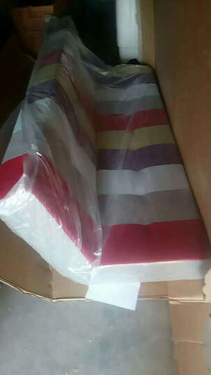 八达八强彩色简易舒适型单人双人三人小户型多功能折叠组合沙发床 彩色拼接 晒单图